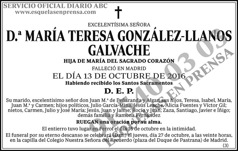 María Teresa González-Llanos Galvache